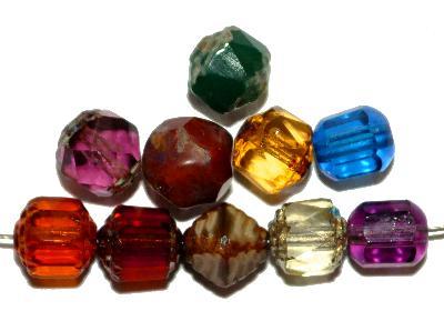 Best.Nr.:s-0043 geschliffene Glasperlen, hergestellt in Gablonz Tschechien, Farbmix so oder �hnlich