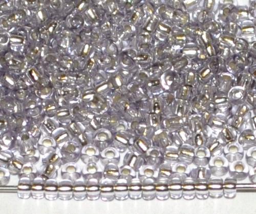 Best.Nr.:11004 Rocailles von Preciosa Ornella Tschechien, light lila transp. mit Silbereinzug