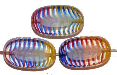 Best.Nr.:671054 Glasperlen / Table Cut Beads geschliffen / Rand mattiert