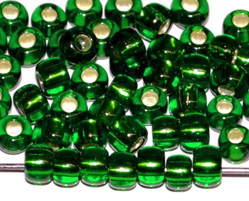 Best.Nr.:11068 Rocailles von Ornella Preciosa Tschechien, grün transp. mit Silbereinzug