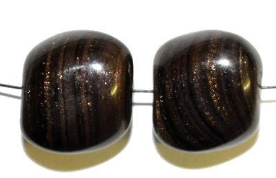 Best.Nr.:63252 Glasperlen in den 1940/50 Jahren in Gablonz/Böhmen hergestellt,  schwarz mit Aventurin (Goldstone)
