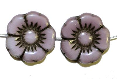 Best.Nr.:50105 Glasperlen Blüte, violett,  in Gablonz/Böhmen gefertigt,