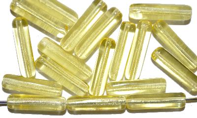 Best.Nr.:48075 Glasperlen Stäbchen,  gelb transp.,  hergestellt in Gablonz / Tschechien