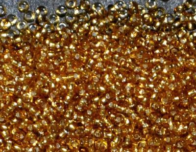 Best.Nr.:15041 Rocailles von Ornella Preciosa Tschechien topas mit Silbereinzug