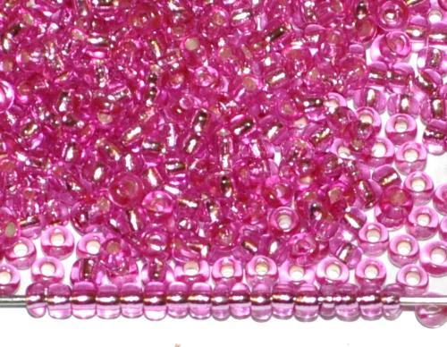Best.Nr.:11193 Rocailles von Preciosa Ornella Tschechien, lila transp. mit Silbereinzug