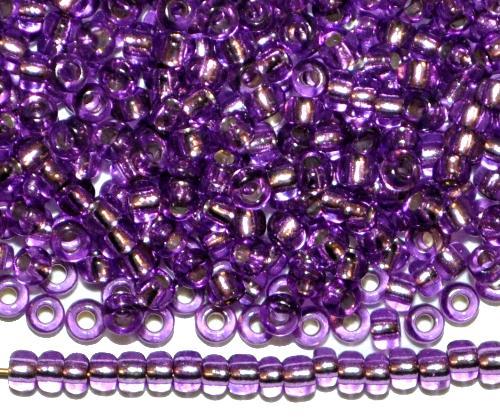 Best.Nr.:11204 Rocailles von Preciosa Ornella Tschechien,  lila transp. mit Silbereinzug