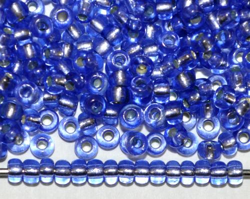 Best.Nr.:11205  Rocailles von Preciosa Ornella Tschechien,  blau transp. mit Silbereinzug