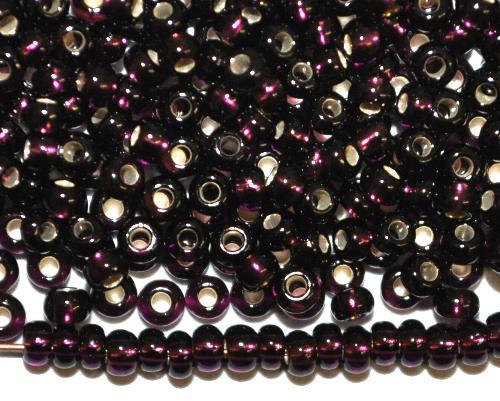 Best.Nr.:11211 Rocailles von Preciosa Ornella Tschechien,  violett transp. mit Silbereinzug