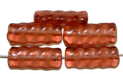 Best.Nr.:49163 Glasperlen in Gablonz/Böhmen hergestellt,  apricot transp.