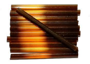 Best.Nr.:21139 Glasperlen / Stiftperlen, extra lang, von Preciosa Ornella Tschechien hergestellt, Satinglas braun