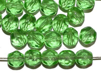 Best.Nr.:27600 facettierte Glasperlen, hellgrün