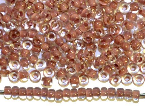 Best.Nr.:12125 Rocailles von Preciosa Ornella,  kristall mit Farbeinzug altviolett,  hergestellt in Gablonz / Tschechien