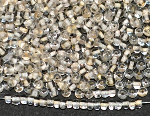Best.Nr.:12127 Rocailles von Ornella Preciosa Tschechien,  kristall mit Farbeinzug