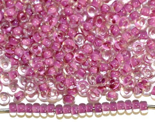 Best.Nr.:12137  Rocailles von Preciosa Ornella,  kristall mit Farbeinzug flieder,  hergestellt in Gablonz / Tschechien