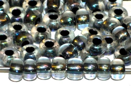 Best.Nr.:12163 Rocailles von Preciosa Ornella Tschechien,  kristall mit AB und Farbeinzug schwarz,