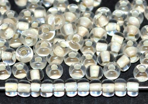 Best.Nr.:12164 Rocailles von Ornella Preciosa Tschechien,  kristall mit Farbeinzug naturweiß
