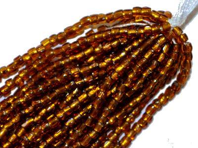 Best.Nr.:18032 3-Cutbeads von Ornella Preciosa Tschechien topas transp. mit Silbereinzug