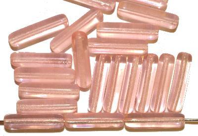 Best.Nr.:48074 Glasperlen Stäbchen,  blass rosa transp.,  hergestellt in Gablonz / Tschechien