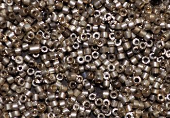 Best.Nr.:63716 Glasperlen in den 1920/30 Jahren in Gablonz/Böhmen hergestellt 2-cut metallic silberantik