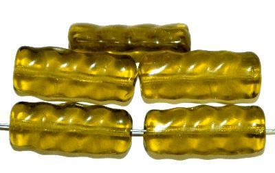 Best.Nr.:49198 Glasperlen in Gablonz/Böhmen hergestellt,  oliv transp.