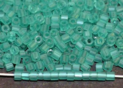 Best.Nr.:19326 Schnittperlen / 2-Cutbeads  smaragd mattiert / frostet, von Preciosa Ornella Tschechien,