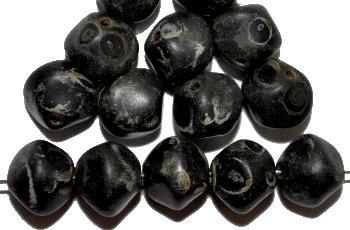 Best.Nr.:57324 Glasperlen Nuggets schwarz mit picasso finish