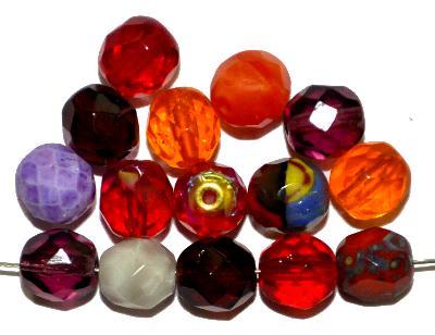 Best.Nr.:s-0046 geschliffene Glasperlen, hergestellt in Gablonz Tschechien, Farbmix so oder �hnlich