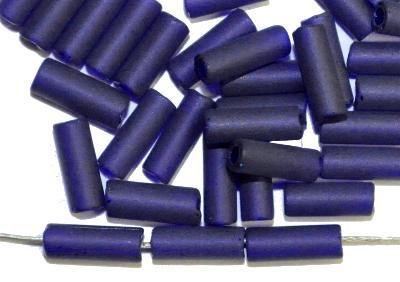 Best.Nr.:21142 Stiftperlen  dunkelblau transp. mattiert,  hergestellt von Preciosa Ornella Tschechien