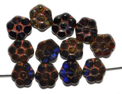 Best.Nr.:67752 Glasperlen / Table Cut Beads, geschliffen mit picasso finish