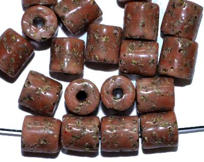 Best.Nr.:63797 Glasperlen ( tilt-beads ) in den 1920/30 Jahren in Gablonz/Böhmen hergestellt, (Prosserbeads)