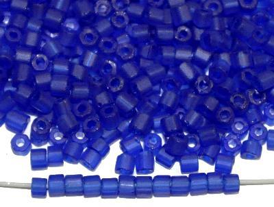 Best.Nr.:16026 Schnittperlen / 2-Cutbeads  blau mattiert / frostet,  von Preciosa Ornella Tschechien,