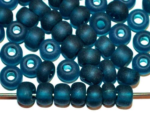 Best.Nr.:14008  Rocailles von Ornella Preciosa Tschechien  montanablau transp. mattiert (frostet)