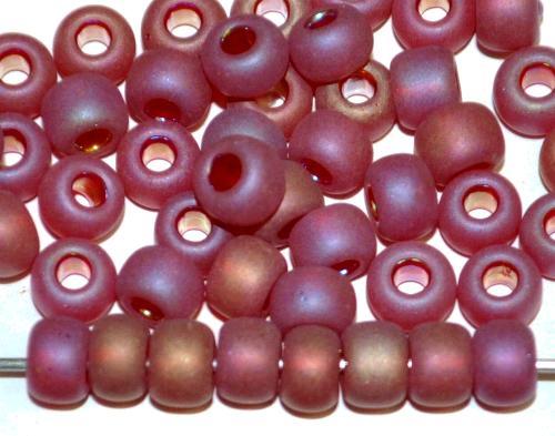 Best.Nr.:14019 Rocailles von Preciosa Tschechien rot transp. mattiert (frostet) und light AB finish