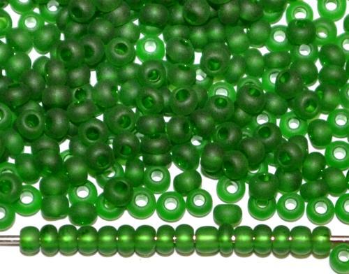 Best.Nr.:14044 Rocailles von Ornella Preciosa Tschechien grün mattiert (frostet)