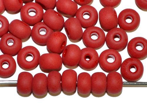 Best.Nr.:14065  Rocailles von Ornella Preciosa Tschechien  rot opak mattiert (frostet)