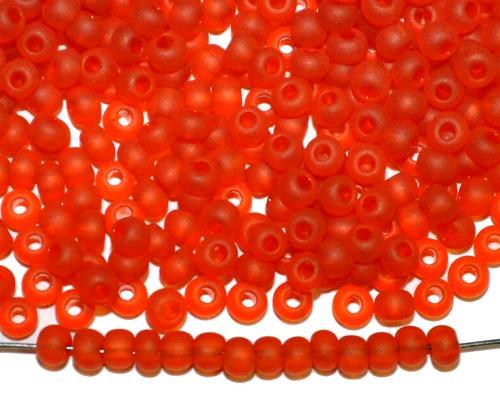 Best.Nr.:14067  Rocailles von Ornella Preciosa Tschechien  orange transp. mattiert (frostet)