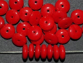 Best.Nr.:63404 Glasperle Linsen, 1930/40 in Gablonz/Böhmen hergestellt, rot