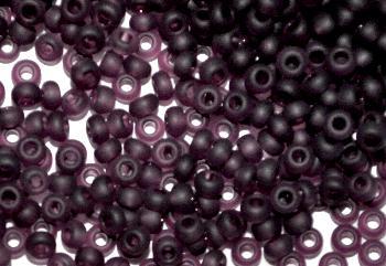 Best.Nr.:14014 Rocailles von Preciosa Tschechien violett mattiert (frostet)