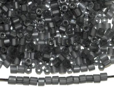 Best.Nr.:16328 Schnittperlen / 2-Cutbeads  blackdiamond mattiert / frostet,  von Preciosa Ornella Tschechien
