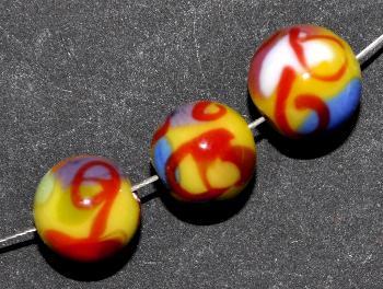 Best.Nr.:45175 Glasperlen / Lampenperle, handgefertigt in einer kleinen Manufaktur bei Gablonz /Böhmen