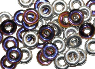 Best.Nr.:0015 Glasperlen Ringe, Spacer, mit metallic Veredelung, hergestellt in Gablonz / Tschechien