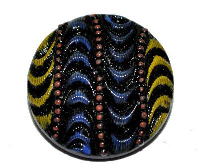 Best.Nr.:43304 Glasknopf, Einzelstück, handgefertigt, handbemalt In Gablonz / Böhmen hergestellt.