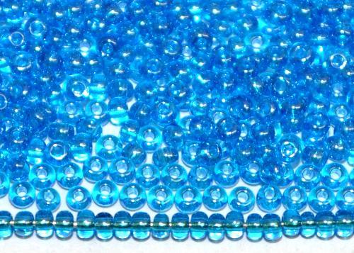 Best.Nr.:15025/100  Rocailles von Ornella Preciosa Tschechien  blau transparent mit lüster