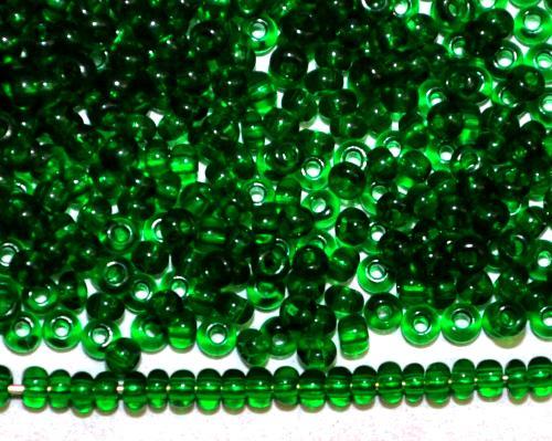 Best.Nr.:15048  Rocailles von Ornella Preciosa Tschechien  grün transparent