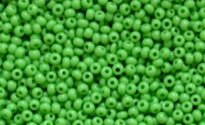 Best.Nr.:15056 Rocailles von Ornella Preciosa Tschechien  grün opak