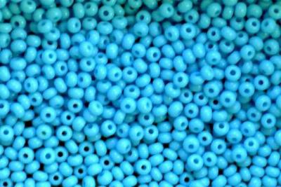 Best.Nr.:15057 Rocailles von Ornella Preciosa Tschechien  türkisblau opak