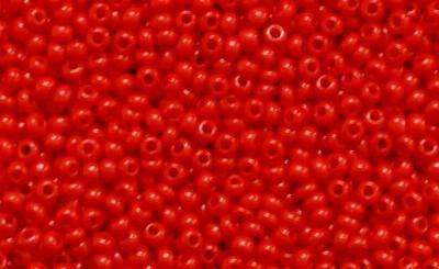 Best.Nr.:15061 Rocailles von Ornella Preciosa Tschechien,  rot opak