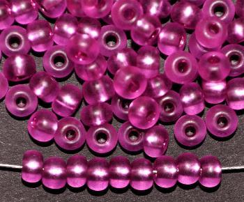 Best.Nr.:14046 Rocailles von Preciosa Tschechien lila mattiert (frostet) mit Silbereinzug