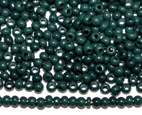 Best.Nr.:15072  Rocailles von Ornella Preciosa Tschechien  dunkelgrün opak