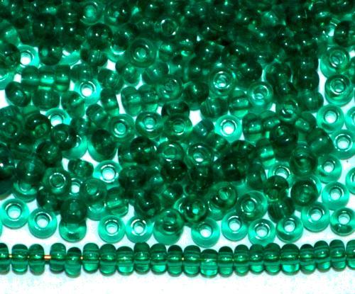 Best.Nr.:15075/100  Rocailles von Ornella Preciosa Tschechien  grün transp.,
